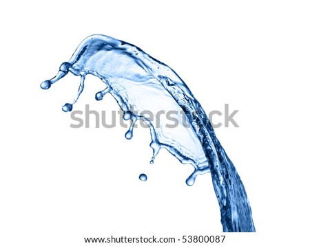 Photo of water splash isolated on white - stock photo