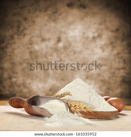 photo of white flour  - stock photo