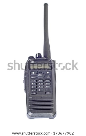 photo on a white background  cb radio - stock photo
