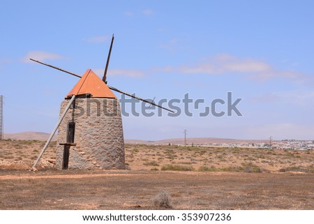 Photo Picture of a Classic Vintage Windmill Building