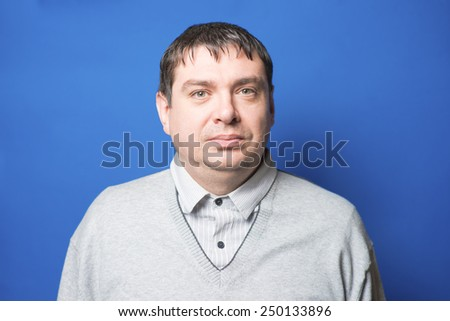 photo portrait middle age man close up - stock photo