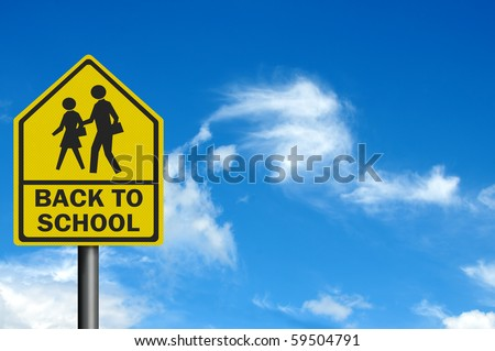 Photo realistic 'back to school' sign, with space for your text / editorial overlay