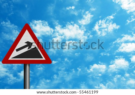 Photo realistic reflective metallic 'increase' sign, can be used as a financial metaphor. With space for your text. - stock photo