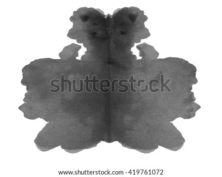 photo Rorschach inkblot test isolated on white background - stock photo