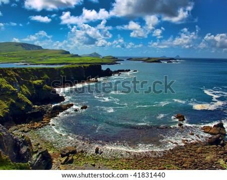 photo scenic capture from the ring of kerry, ireland - stock photo