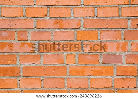 Photo shows a detailed closeup of the bricks wall background. - stock photo