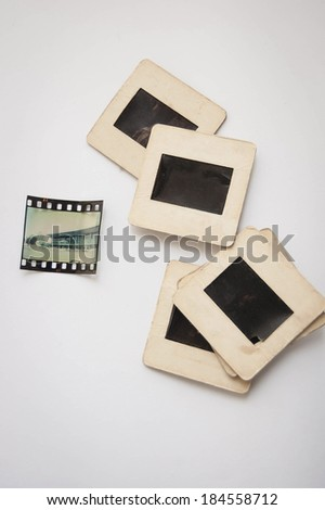 photo slides - stock photo