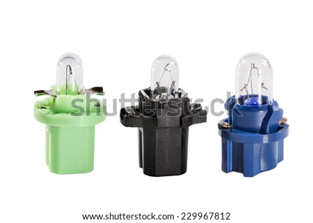 photo some small bulbs for the car - stock photo