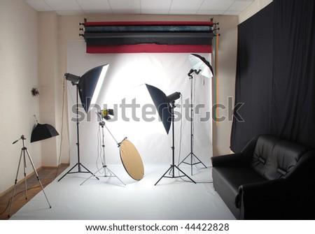 Photo studio - stock photo