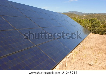 Photo Voltaic solar panel array - stock photo