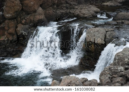 Photo waterfall, made during a hike in 2011 on the Putorana plateau. Taimyr Peninsula, Russia.