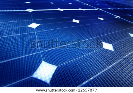 photocell boards - stock photo