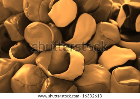 Photograph featuring a pile of juggling balls/hacky sacks (Australia). - stock photo