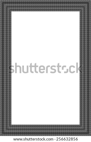 Photograph Frame A photo frame with texture and pattern - dark grey and black   - stock photo