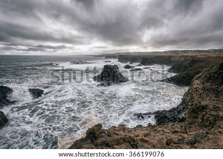 Photograph of a seascape in Iceland