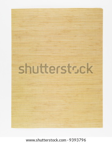 Photograph of a sheet of brown rice paper.