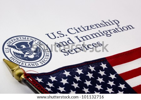 Photograph of a U.S. Department of Homeland Security logo. - stock photo