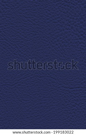 Photograph of artificial leather, Dark Navy Blue, coarse texture sample - stock photo