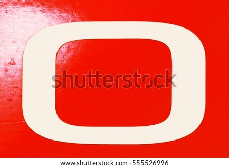 Photograph of Block Letter O
