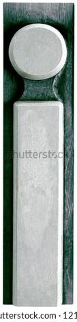 Photograph of Metal Letterpress Letter j - stock photo