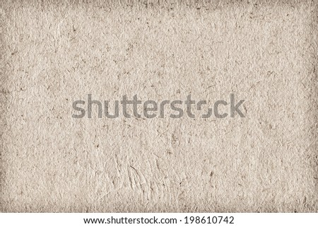 Photograph of Off white recycle paper, extra coarse grain, vignette, grunge texture sample - stock photo