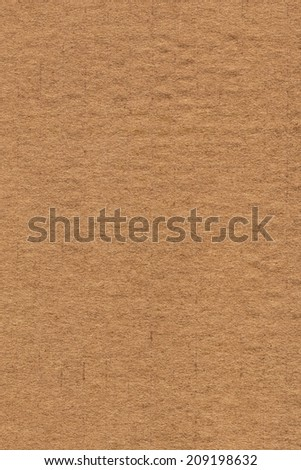 Photograph of recycle brown striped, crumpled, coarse grain, cardboard grunge texture sample
