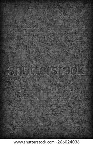 Photograph of Recycle Striped Dark Gray Pastel Paper, bleached, mottled, coarse grain, vignette grunge texture sample. - stock photo