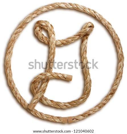Photograph of Rope Letter G