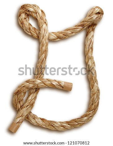 Photograph of Rope Letter G - stock photo