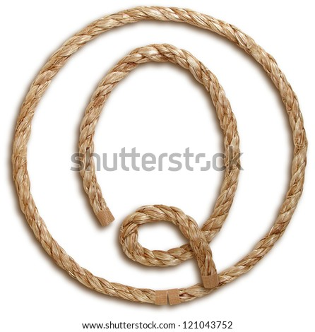 Photograph of Rope Letter Q - stock photo