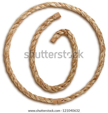Photograph of Rope Number Zero - stock photo