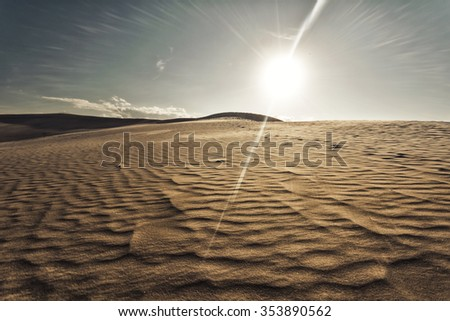 Photograph of sand dunes in Denmark
