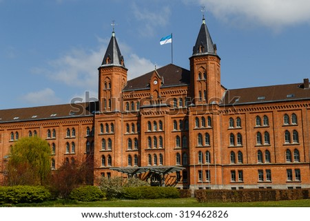Photograph of the new city hall of Celle, Germany. - stock photo