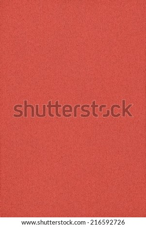 Photograph of vivid, saturated China Red recycle striped paper, extra coarse grain, grunge texture sample. - stock photo