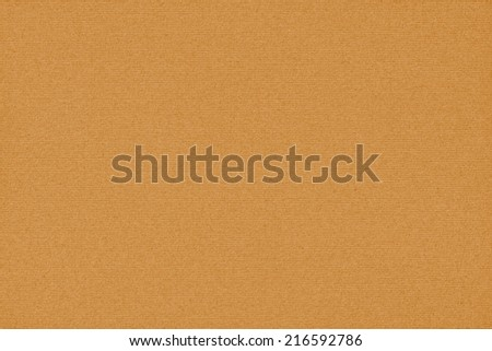 Photograph of vivid, saturated Yellow Ocher recycle striped paper, extra coarse grain, grunge texture sample. - stock photo