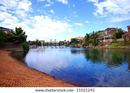 Photograph taken at West Lakes (Adelaide, Australia). - stock photo
