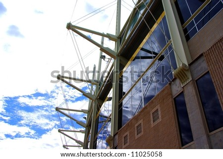 Photograph taken featuring a Sports Stadium in Adelaide (Australia). - stock photo