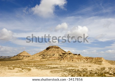 Photograph took at the desert of Bardenas Reales