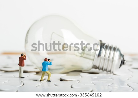 Photographer find creative idea for learning knowledge - stock photo