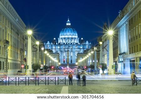 Photographer in Basilica di San Pietro, Vatican City, Rome, Italy - stock photo