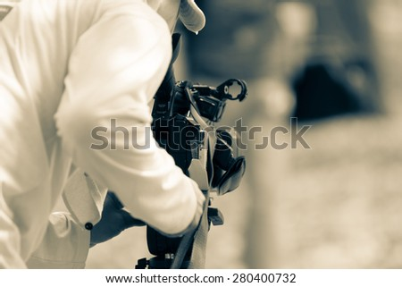 Photographers are taking a picture video - stock photo