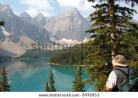 Photographing Moraine Lake
