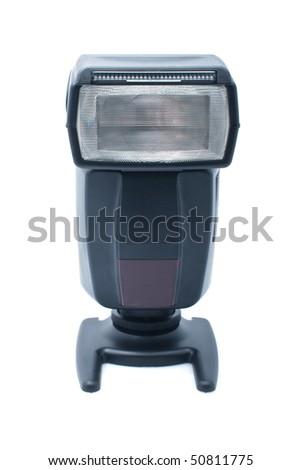 Photography flash, isolated on the white background