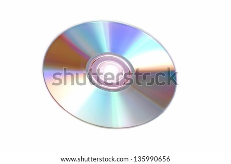 photography of a isolated cd rom - stock photo