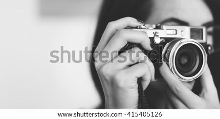 Photography Photographer Photograph Camera Concept - stock photo