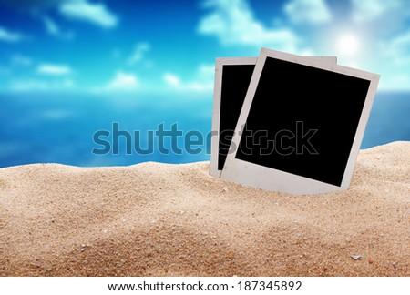 photographys on the beach  - stock photo