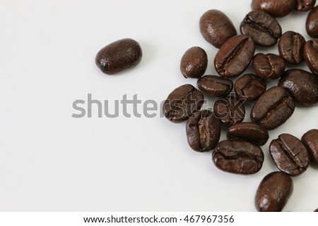 Photos of coffee bean . The Beverages are used in everyday life.