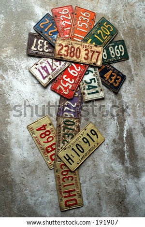 Photos of Old Illinois Land Of Lincoln License plates.