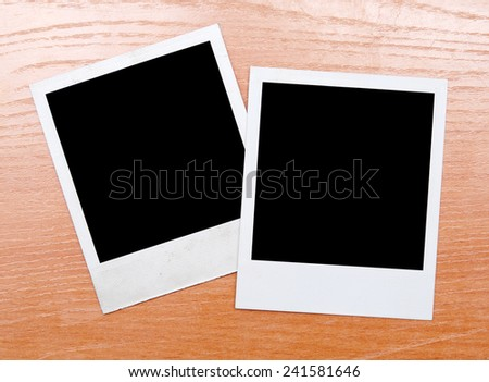 photos on a wooden background