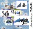 photos together depicting business and technology concept - stock photo